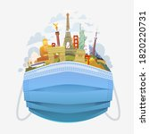 covid 19 and travel industry.... | Shutterstock .eps vector #1820220731