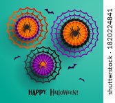 paper graphic of halloween... | Shutterstock .eps vector #1820224841