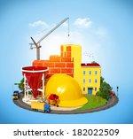 Construction Site.  Concept Of...