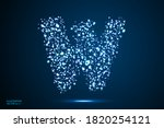 english letters abstract font... | Shutterstock .eps vector #1820254121