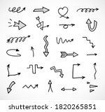 vector set of hand drawn arrows ...   Shutterstock .eps vector #1820265851