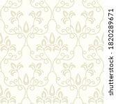 renaissance. seamless damask...   Shutterstock .eps vector #1820289671