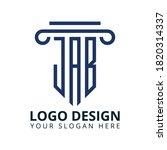 j a b letter law office logo... | Shutterstock .eps vector #1820314337