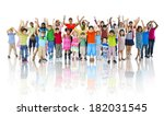 large group of children... | Shutterstock . vector #182031545