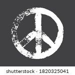 grunge dirty peace symbol.brush ... | Shutterstock .eps vector #1820325041