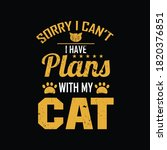 sorry i can't i have plans with ... | Shutterstock .eps vector #1820376851