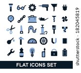 flat icons  set tools ... | Shutterstock .eps vector #182045819