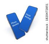 3d realistic smartphone mockup...   Shutterstock .eps vector #1820472851