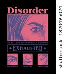 disorder with face drawing... | Shutterstock .eps vector #1820495024
