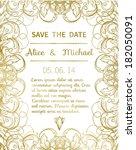 wedding invitation | Shutterstock .eps vector #182050091