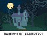 old house in forest. landscape... | Shutterstock .eps vector #1820505104