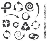 arrow icons set collections.... | Shutterstock . vector #182051024