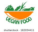 vegan food icon in stylish... | Shutterstock .eps vector #182054411