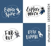cute hand drawn lettering space ... | Shutterstock .eps vector #1820550824
