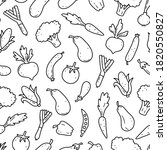 hand drawn seamless pattern of... | Shutterstock .eps vector #1820550827