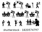 social media influencers and...   Shutterstock .eps vector #1820574797