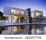 external view of a contemporary ... | Shutterstock . vector #182057795