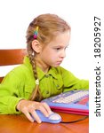 sitting young girl with notebook | Shutterstock . vector #18205927