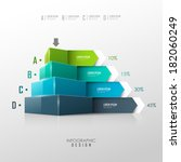 vector pyramid for infographic... | Shutterstock .eps vector #182060249