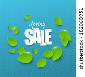 spring sale background | Shutterstock .eps vector #182060951