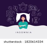 young woman suffers from... | Shutterstock .eps vector #1820614334