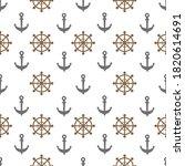 seamless pattern with anchor... | Shutterstock .eps vector #1820614691