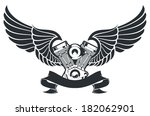 winged engine | Shutterstock .eps vector #182062901