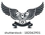winged engine   Shutterstock .eps vector #182062901