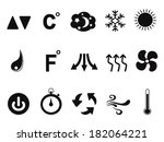 air conditioner icons set | Shutterstock .eps vector #182064221