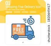 shipping free delivery icon...