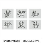covid 19 and protect icons set  ... | Shutterstock .eps vector #1820669291