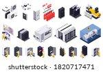 data center isometric set of... | Shutterstock .eps vector #1820717471