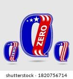 number zero letter and figure...   Shutterstock .eps vector #1820756714