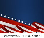 flag banner ribbon on blue... | Shutterstock . vector #1820757854