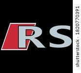 Logo rs audi icon vectoriel on black background