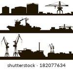 Harbor Skyline Vector...