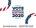 the 2020 united states...   Shutterstock .eps vector #1820781104