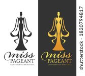 miss pageant logo sign   black... | Shutterstock .eps vector #1820794817