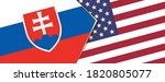 slovakia and usa flags  two...   Shutterstock .eps vector #1820805077