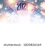 clock hands showing 2021 year... | Shutterstock .eps vector #1820826164