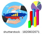 economy and budget of russian...   Shutterstock .eps vector #1820832071