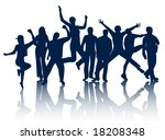 illustration of people jumping | Shutterstock .eps vector #18208348