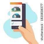 house home buy or rental web... | Shutterstock .eps vector #1820838377