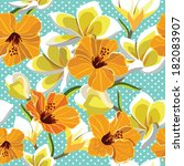 floral seamless pattern with... | Shutterstock .eps vector #182083907