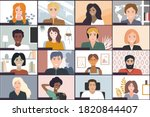 online students lesson or...   Shutterstock .eps vector #1820844407