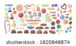 collection of caramel ... | Shutterstock .eps vector #1820848874