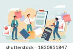 financial statement and...   Shutterstock .eps vector #1820851847