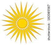 a sun design in yellow and gold ... | Shutterstock . vector #182085587