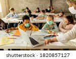 Group Of School Kids With...