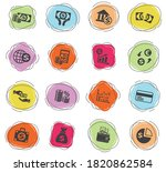 business finance web icons for... | Shutterstock .eps vector #1820862584